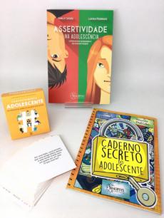 Combo Assertividade + Caderno secreto do adolescente + Caixinha comportamento adolescente