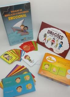 Combo Caderno das emoções + Baralho da Regulação + Jogo da memória emoções
