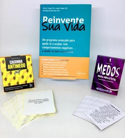 Combo Reinvente sua vida + Caixinha antimedo + Caixinha Medos para adultos