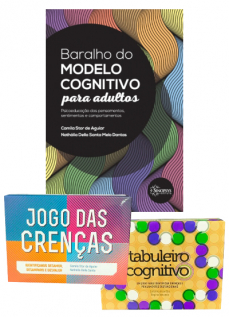KIT BARALHO DO MODELO COGNITIVO + JOGO DAS CRENÇAS + TABULEIRO COGNITIVO
