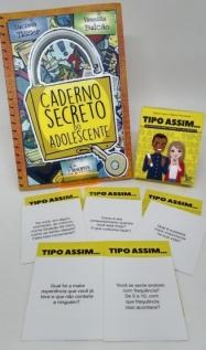 Kit Caderno secreto do adolescente + Caixinha Tipo assim