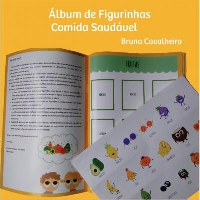 Álbum de Figurinhas - Comida Saudável